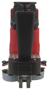 Professionelle Aufsitzscheuersaugmaschine Modell Spartacus 660 mit stufenlosem Fahrantrieb (vorwärts / rückwärts), mit Gelbatterien und Ladegerät