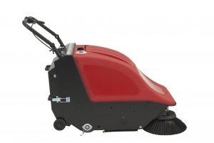 Nachläufer Handkehrmaschine Sweeper 501 BT, mit Fahrantrieb, Gelbatterien und Ladegerät