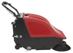 Nachläufer Handkehrmaschine mit Fahrantrieb Sweeper 701 BT, Gelbatterien und Ladegerät