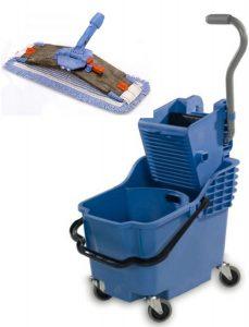 Bodenreinigung, Reinigung, Reinigungswagen, Fahreimer, Klapphalter,